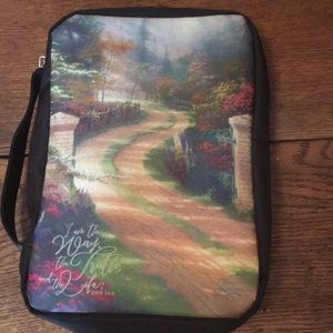 New bible cover with garden and path